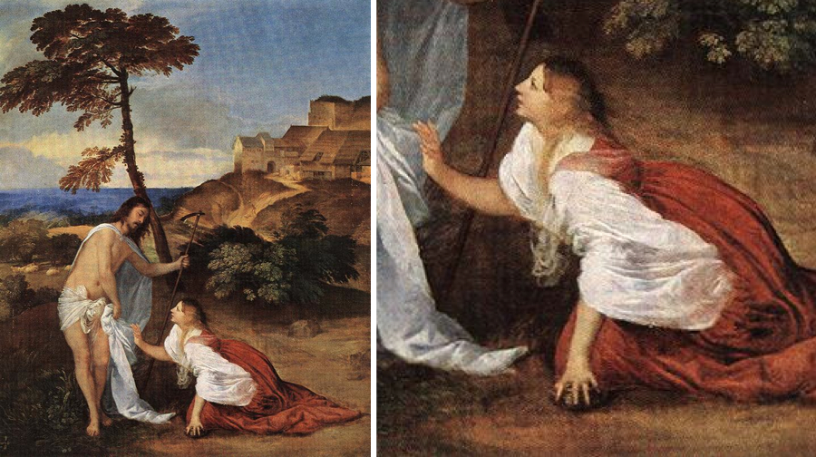 Image result for titian noli me tangere image