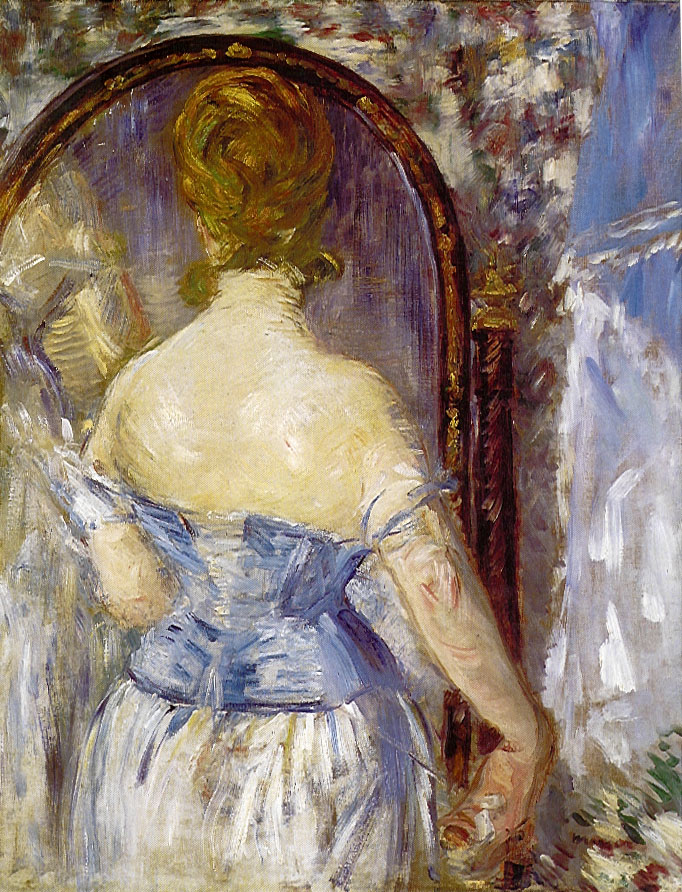 Epph manet s before the mirror 1876 for Devant le miroir