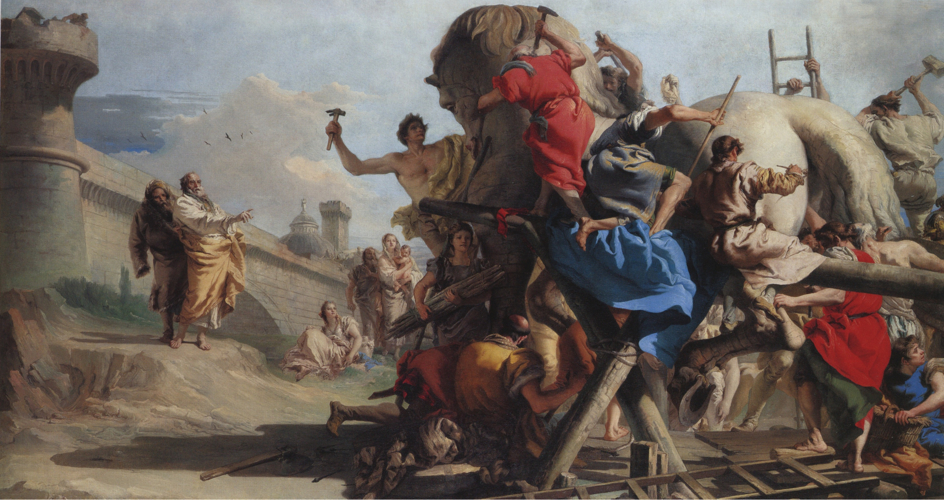EPPH | Giandomenico Tiepolo's Building of the Trojan Horse (c 1773-4)