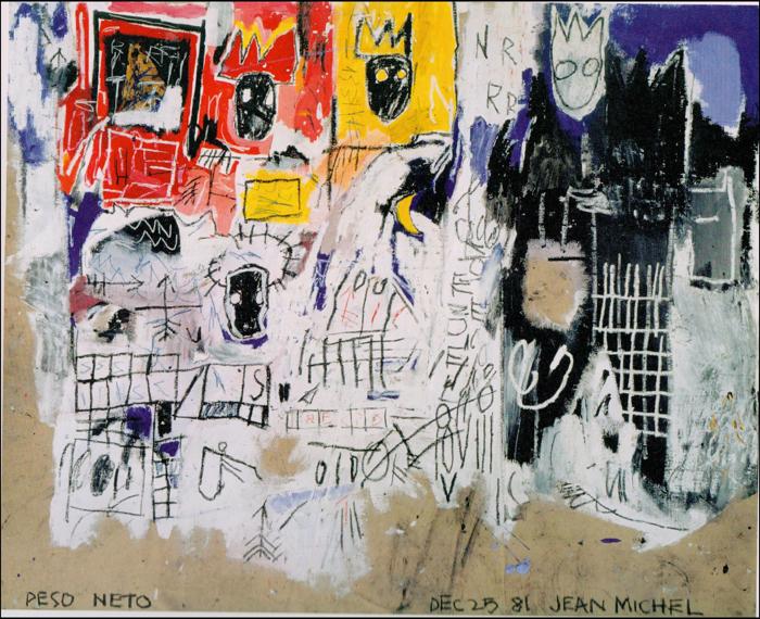 Basquiat paintings crown