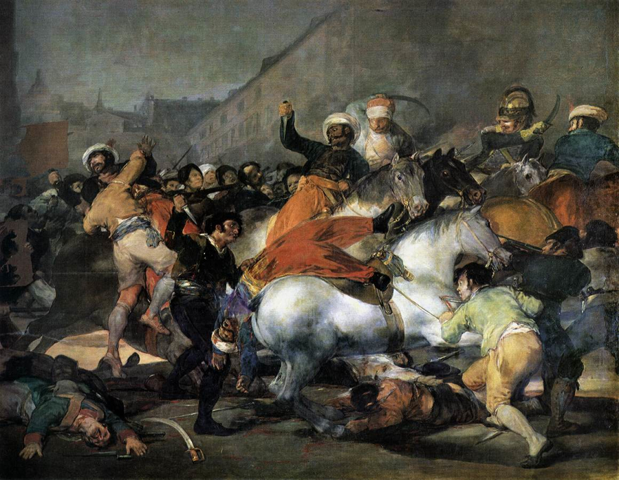 goya the third of may essay To compose the painting, goya created divided the painting into three sections the first includes the soldiers, the second, the spanish rebels, and the upper half of the painting depicts the dark skyline.