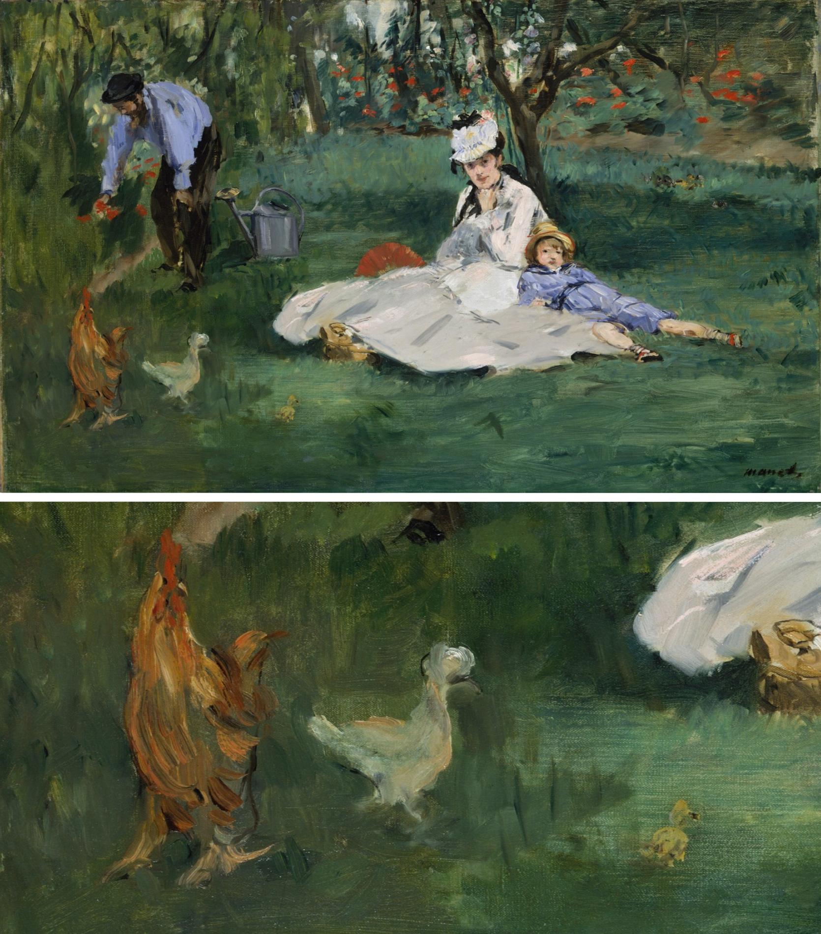 Epph Manet S Monet Family In The Garden 1874