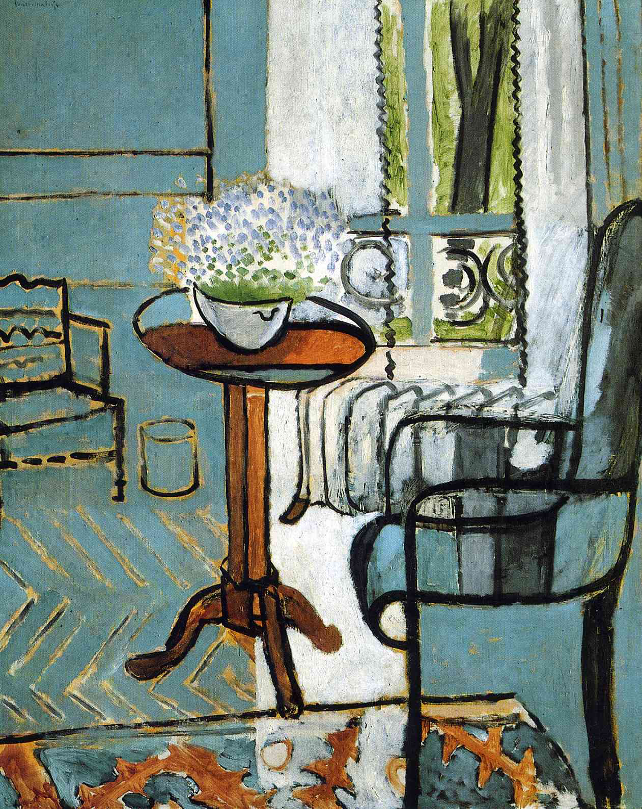 Epph matisse s the window 1916 for Par la fenetre ouverte comptine