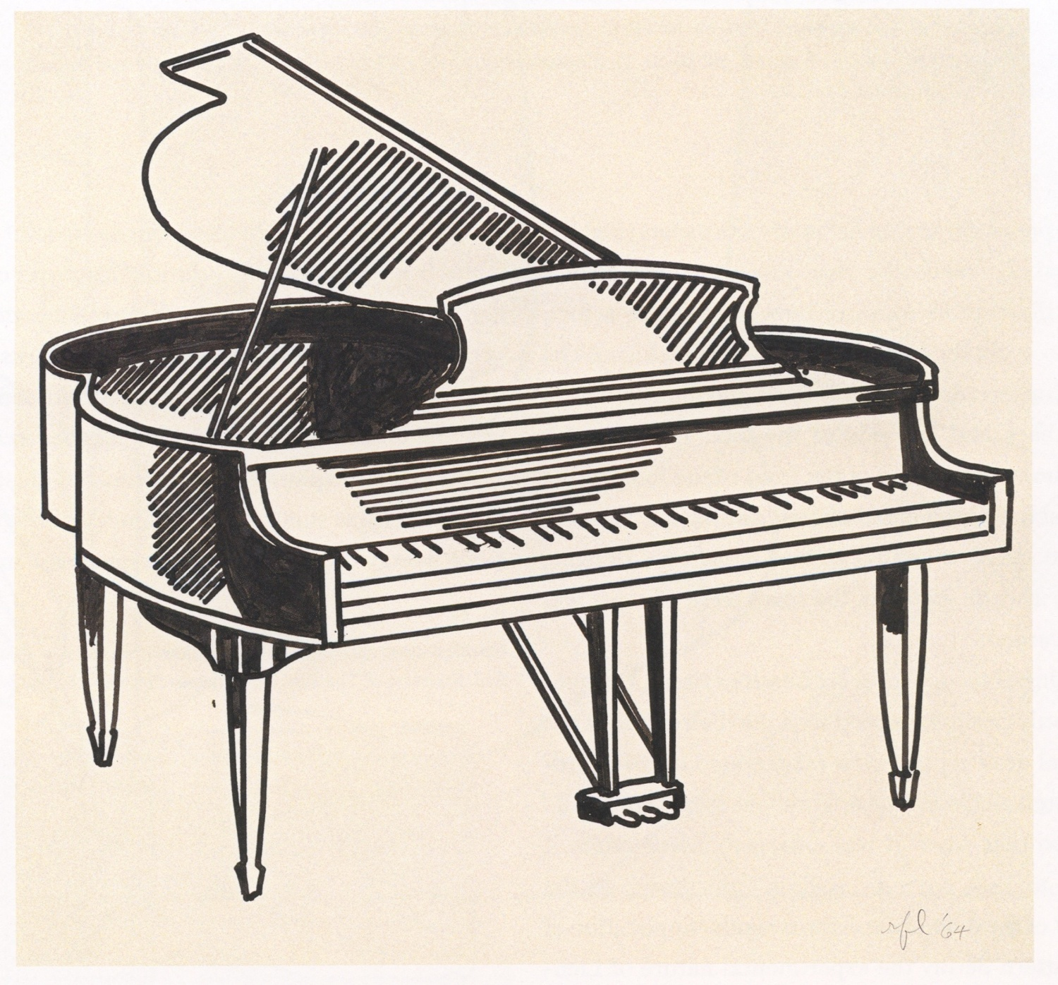 Epph Lichtenstein S Piano C 1961 Draw this cute piano by following this drawing lesson. epph lichtenstein s piano c 1961