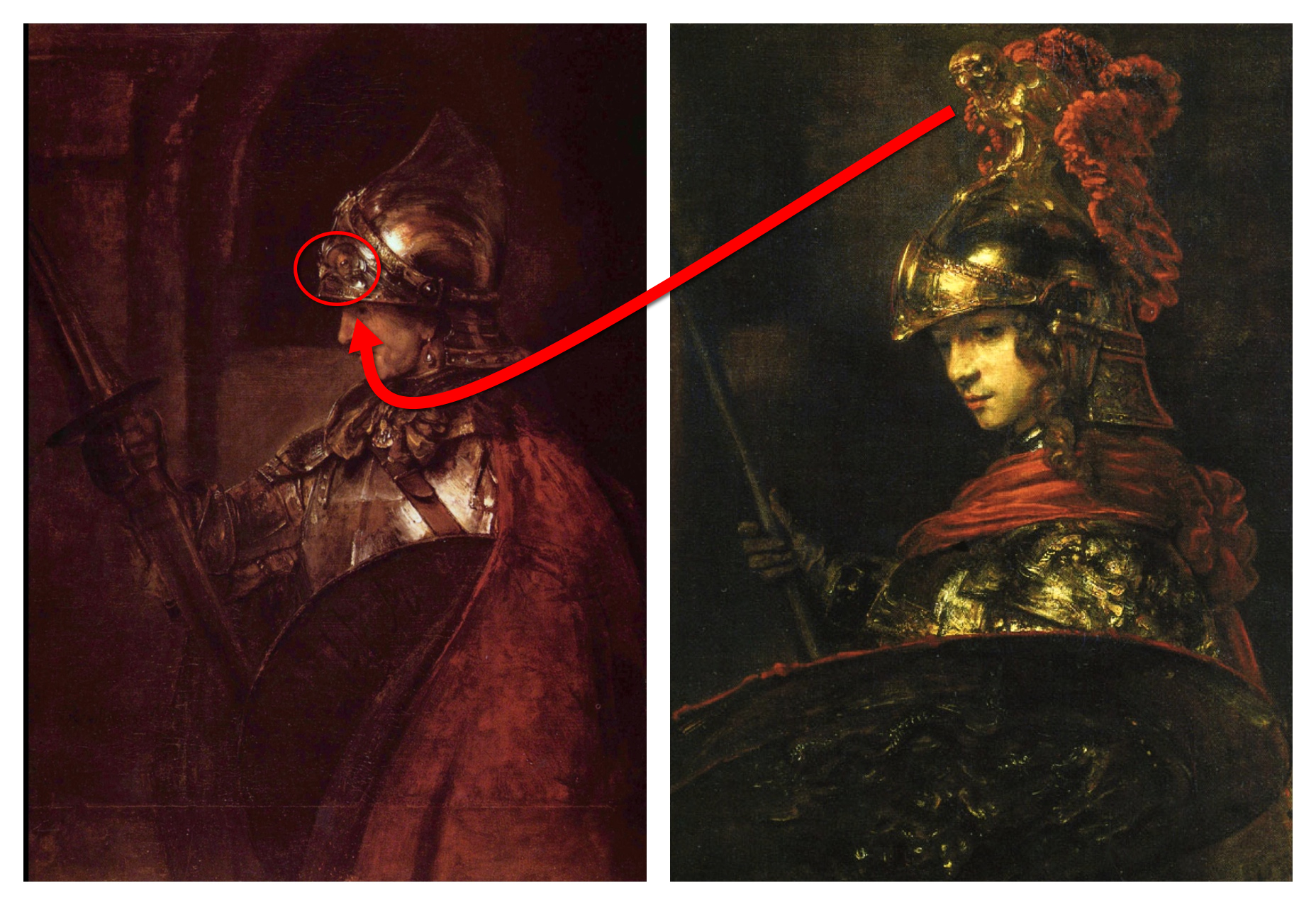 EPPH | Rembrandt's Man in Armour (1655) and Minerva (c.1655)