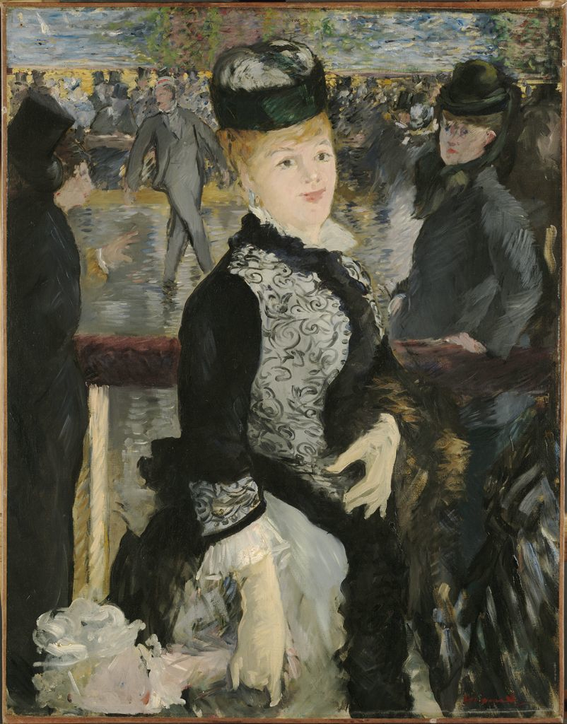 an analysis of the painting a bar at the folies bergre by edouard manet A bar at the folies-bergere, oil on canvas by edouard manet (fine art art reproduction edouard manet.