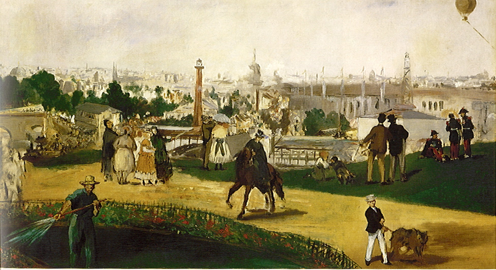 D Painting Exhibition : Epph manet s view of the universal exhibition