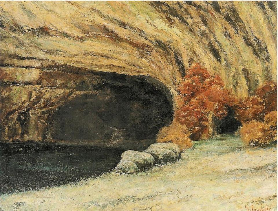 Epph Courbet S Grotte De La Source Enneige C 1866
