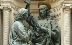 Verrocchio's Christ and St. Thomas (1467-83)