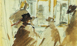 Manet's Exhibition of Paintings (c. 1876)