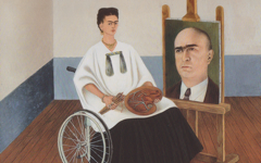 Kahlo's Self-Portrait with Portrait of Dr. Farill (1951)