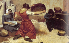 Courbet's The Wheat Sifters (1854-5)