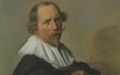 Frans Hals' Portrait of a Gentleman, half-length, in a black coat (early 1630's)