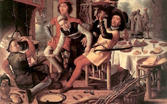 Aertsen's Peasants by the Hearth (1556)