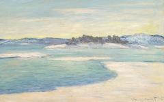 Monet's Au Bord du Fjord, près Christiania (1895)