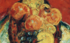Bonnard's Fruit on a Red Tablecloth (c.1943)