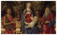 Botticelli's Virgin and Child with Saints…(1484-5)