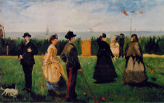 Manet's Croquet at Boulogne (1871)
