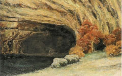 Courbet's Grotte de la Source Enneige (c.1866)