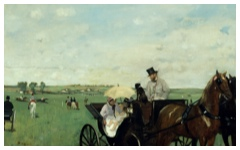 Degas' At the Races in the Countryside (1869)