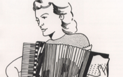 Lichtenstein's Girl with an Accordion (1961)
