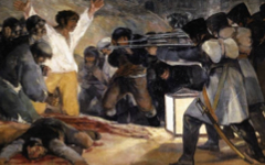 Goya's and Dix's Scenes of Execution