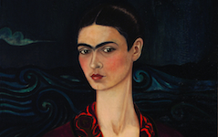 Kahlo's Self-portrait in a Velvet Dress (1926)