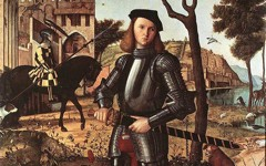 Carpaccio's Young Knight in a Landscape (1510)