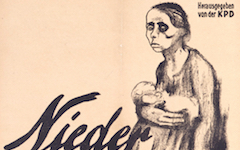 "Kollwitz's ""Down with Abortion Clause"" Poster (1924)"