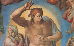 Michelangelo's Christ in the Last Judgment (1534-41)