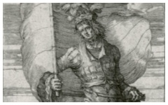 Lucas van Leyden's Standard-Bearer (c.1510)