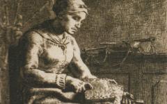 Millet's La Cardeuse (1855-6)