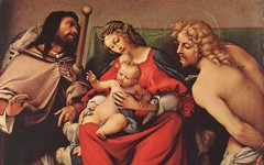 Lotto's Virgin and Child with Saints Roch and Sebastian (c.1522)
