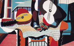 Picasso's Mandolin and Guitar (1924)