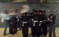 Manet's Execution of Emperor Maximillian (1867-8)