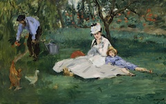 Manet's Monet Family in the Garden (1874)