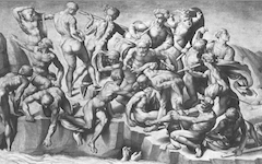 Michelangelo's Battle of Cascina (1504)
