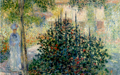 Monet's Camille Monet in the Garden at Argenteuil (1876)