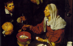 Velazquez's Old Woman Frying Eggs (1618)