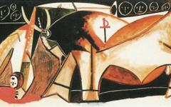 Picasso's Bullfight Scene (1955)