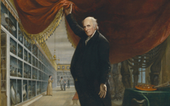 Peale's The Artist in His Museum (1822)