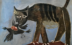 Picasso's Cat Catching a Bird (1939)