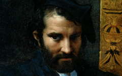 Parmigianino's Man with a Book (1523-4) with works by Titian and Michelangelo too