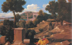 Poussin's Landscape with St. John on Patmos (1640)