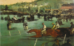 Manet's The Races in the Bois de Boulogne (1872)