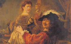 Rembrandt's Self-Portrait with Saskia (c.1635)