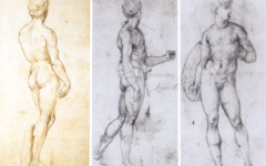Raphael's Studies after Michelangelo's David (1507-8)