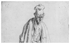 Rembrandt's Beggar in a High Cap (c.1629)