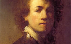 Rembrandt's Self-portrait with Gorget (c.1629)
