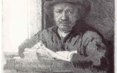 Rembrandt's Self-portrait at a Window and Matisse's Self-portrait as an Etcher